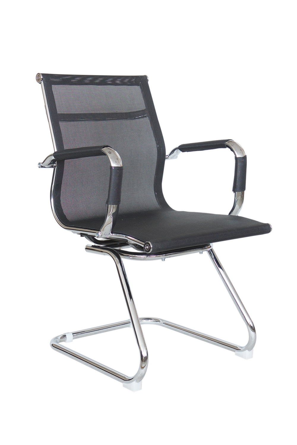 Конференц кресло Riva Chair 6001-3 , чёрная сетка